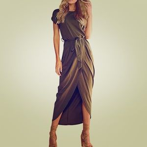 Dresses & Skirts - Army green maxi dress